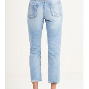 True Religion - Distressed Cropped Jeans